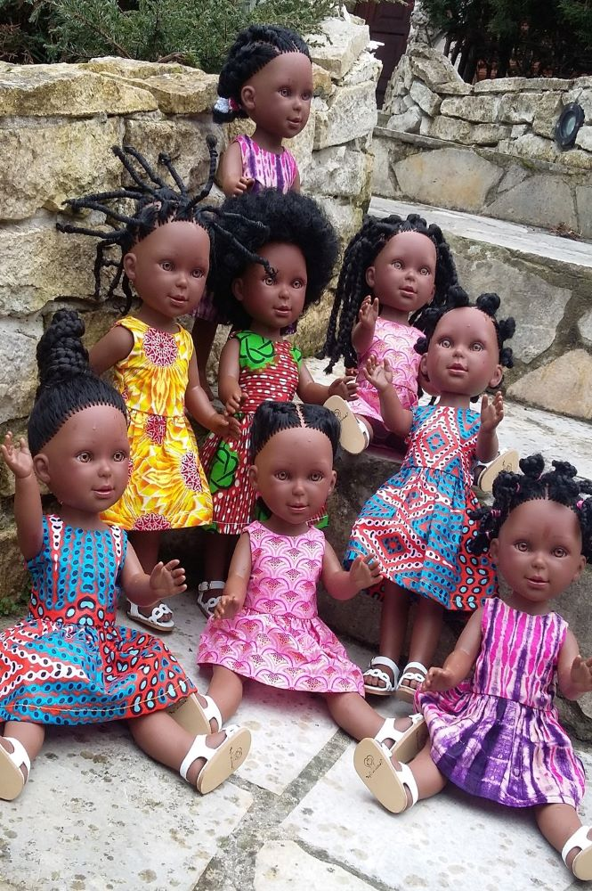 Coiffures africaines des Kitoko Doll