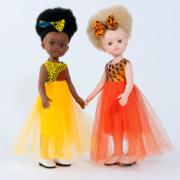Nos deux poupées Bontle et Zuri