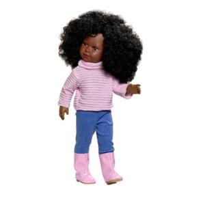 Djelika poupée noires avec cheveux bouclés